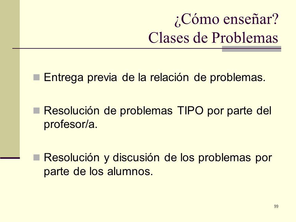 ¿Cómo enseñar Clases de Problemas