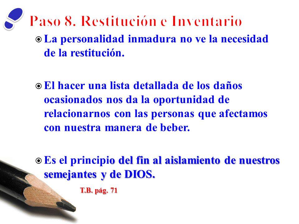 Paso 8. Restitución e Inventario