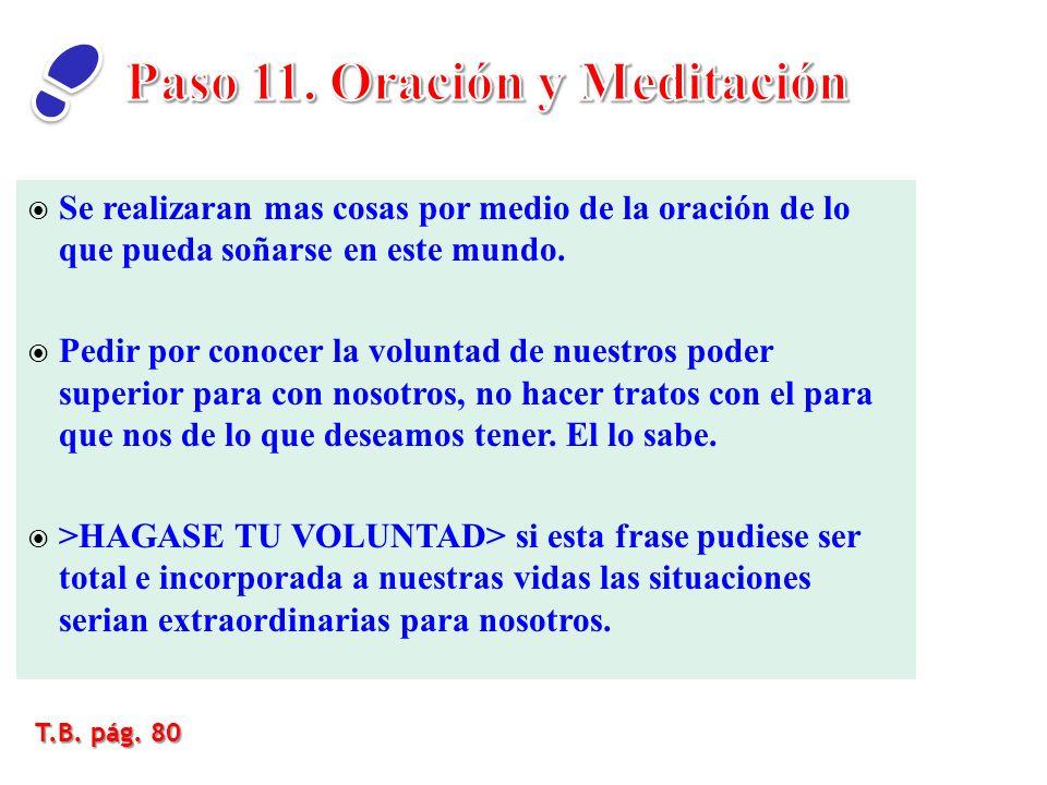Paso 11. Oración y Meditación
