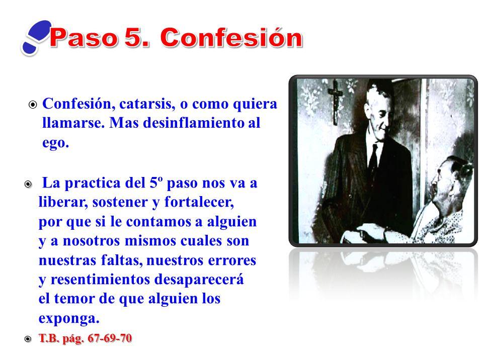 Paso 5. Confesión Confesión, catarsis, o como quiera llamarse. Mas desinflamiento al ego.