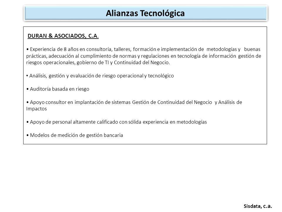 Alianzas Tecnológica DURAN & ASOCIADOS, C.A. Sisdata, c.a.
