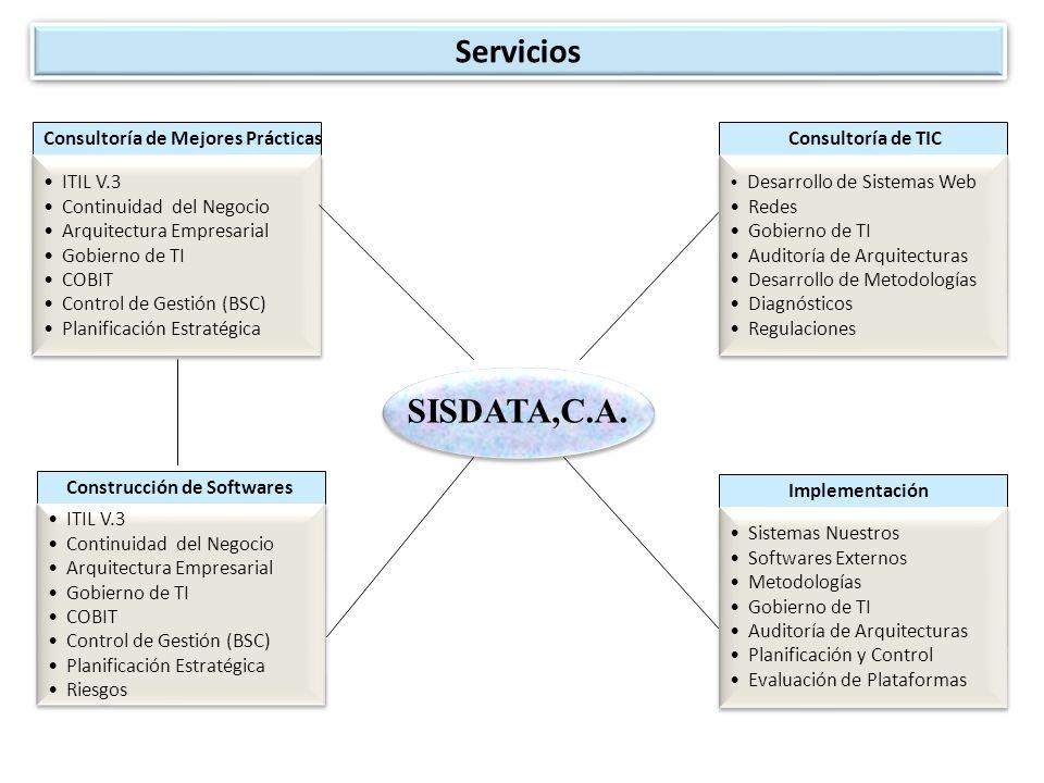 Servicios SISDATA,C.A. Consultoría de Mejores Prácticas