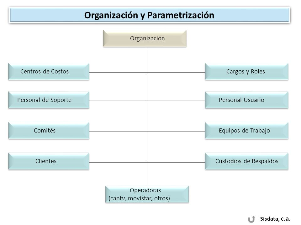 Organización y Parametrización