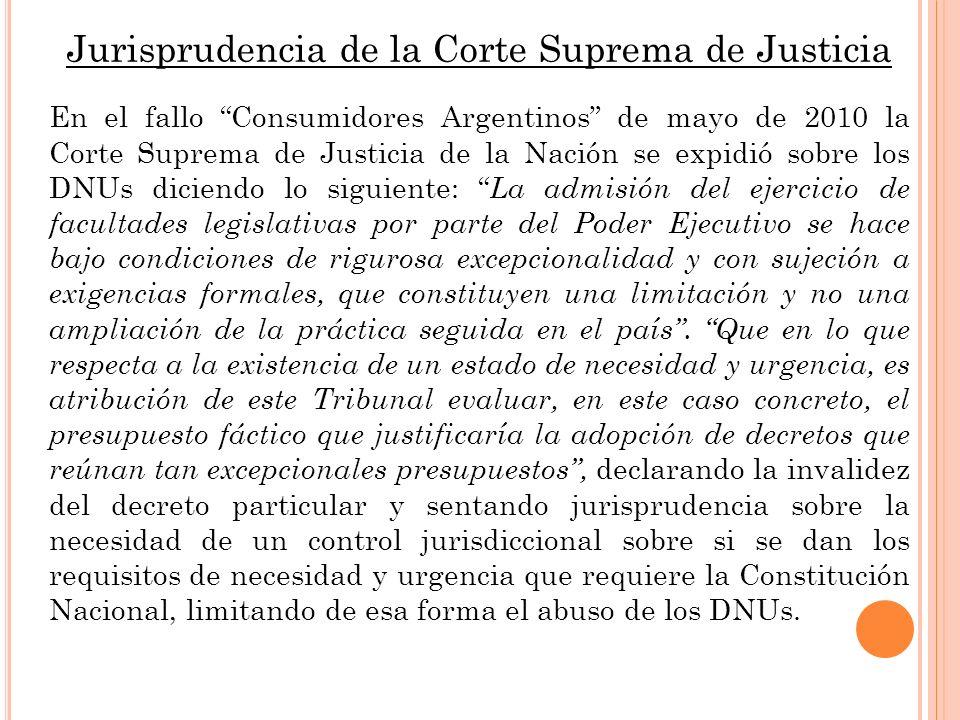 Jurisprudencia de la Corte Suprema de Justicia