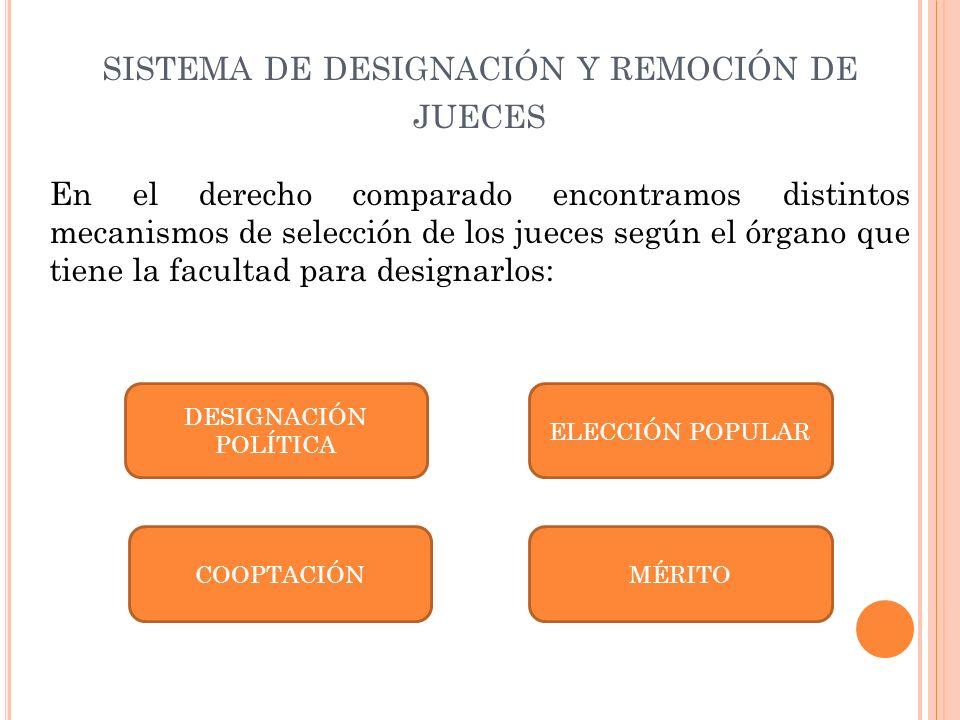 sistema de designación y remoción de jueces