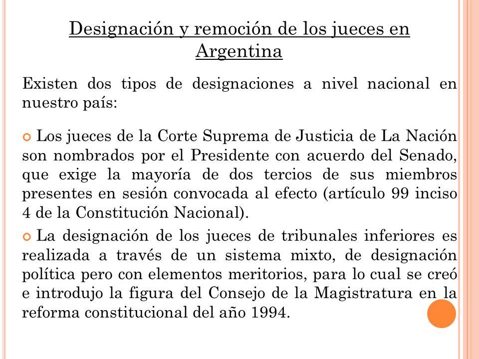 Designación y remoción de los jueces en Argentina