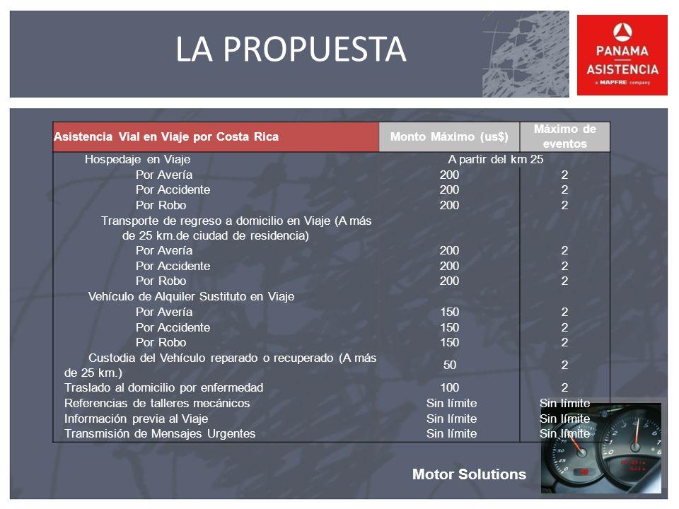 LA PROPUESTA Motor Solutions Asistencia Vial en Viaje por Costa Rica
