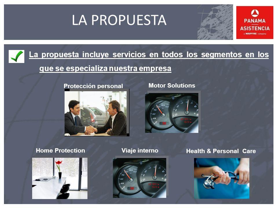 LA PROPUESTA La propuesta incluye servicios en todos los segmentos en los que se especializa nuestra empresa.