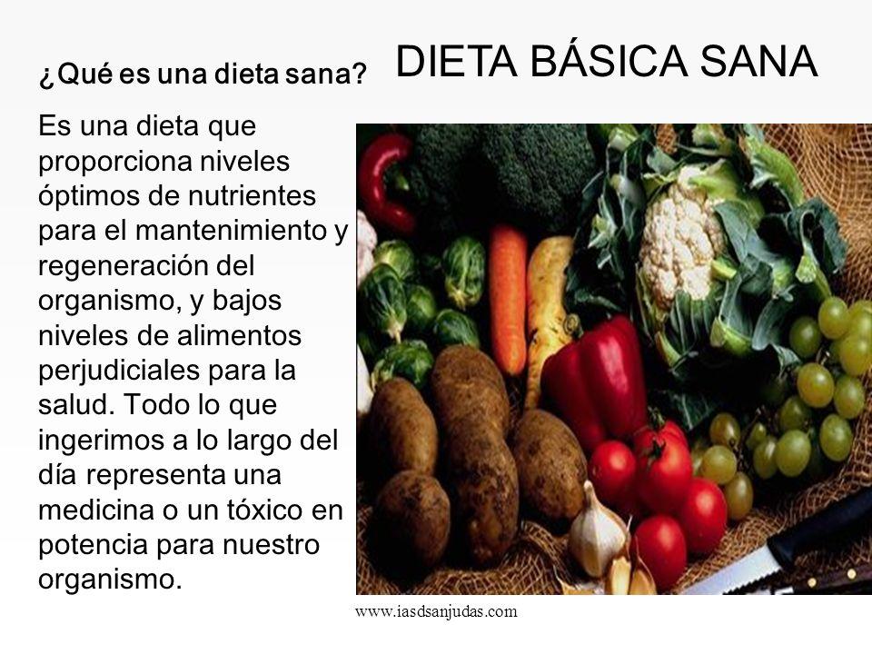 DIETA BÁSICA SANA ¿Qué es una dieta sana
