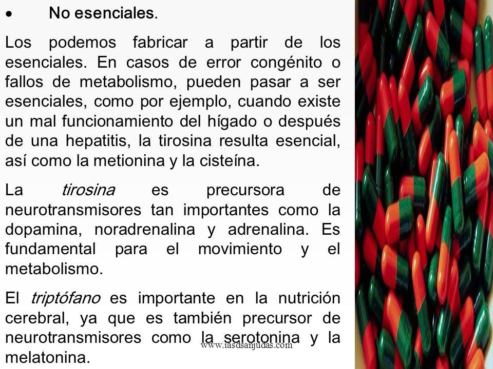 · No esenciales.