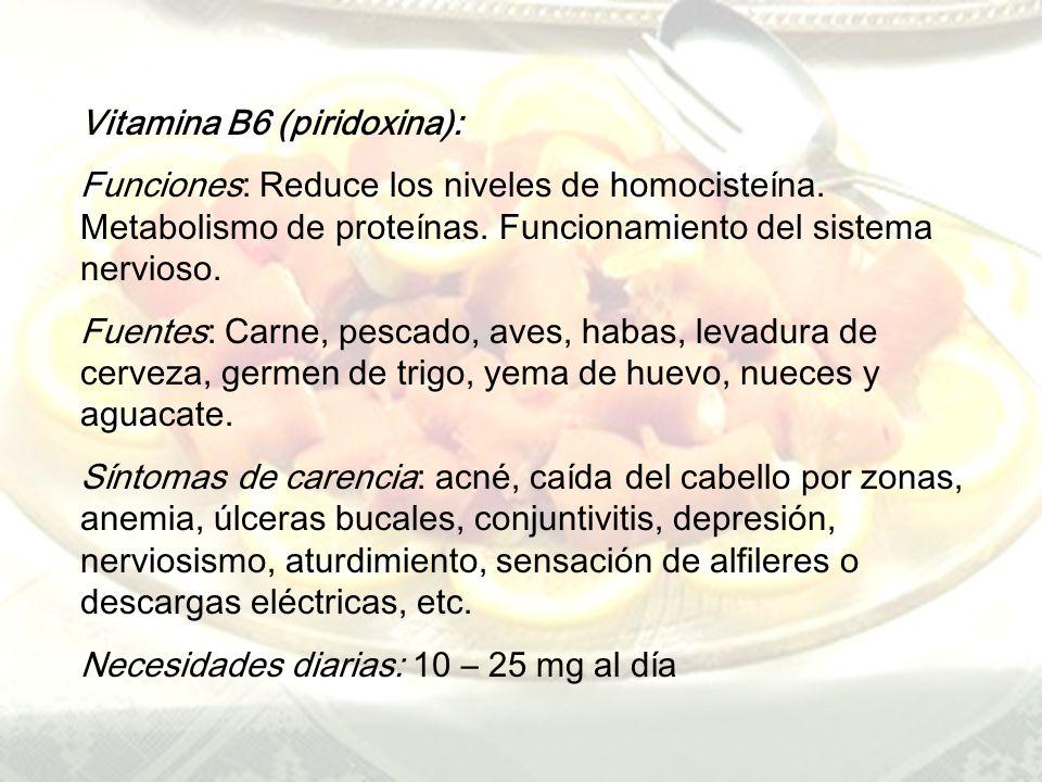 Vitamina B6 (piridoxina):