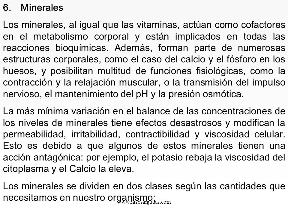 6. Minerales