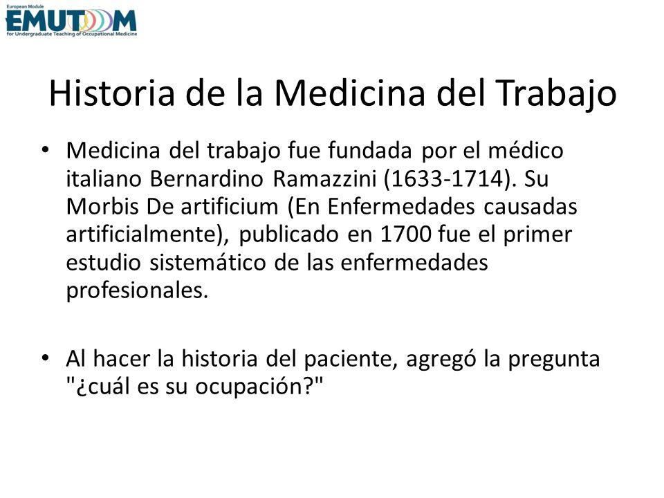 Historia de la Medicina del Trabajo