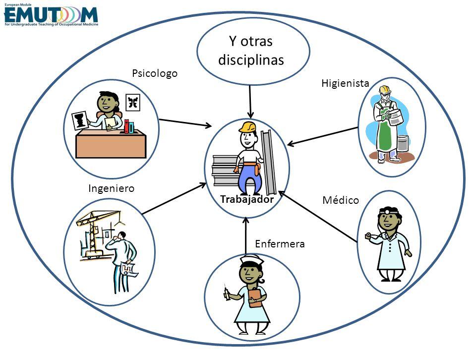 Y otras disciplinas Psicologo Higienista Ingeniero Trabajador Médico