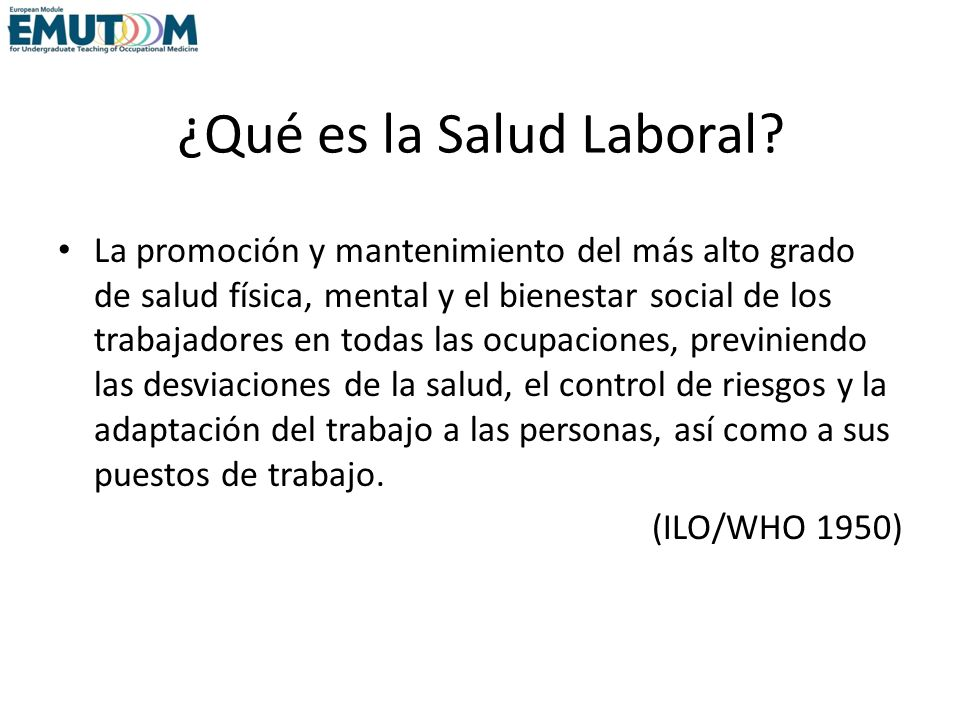 ¿Qué es la Salud Laboral