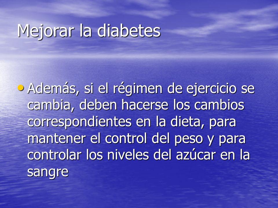 Mejorar la diabetes