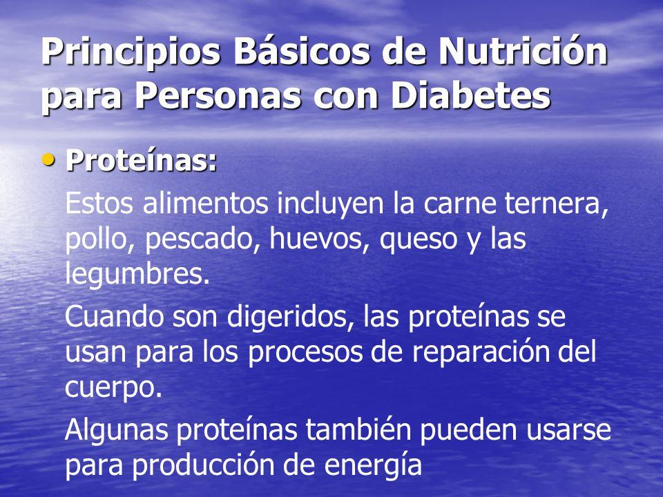 Principios Básicos de Nutrición para Personas con Diabetes