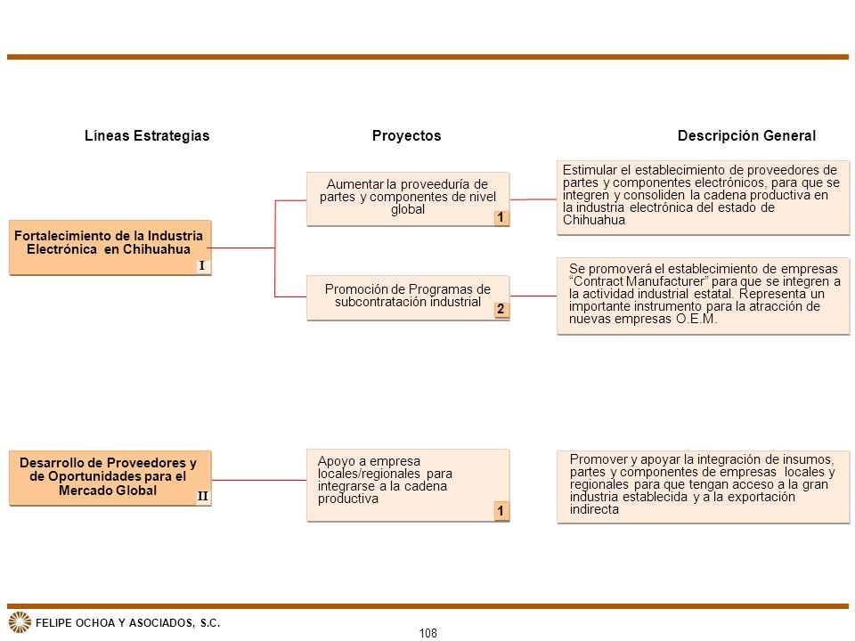 Líneas Estrategias Proyectos Descripción General