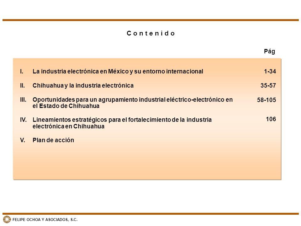 C o n t e n i d o Pág. I. La industria electrónica en México y su entorno internacional. II. Chihuahua y la industria electrónica.