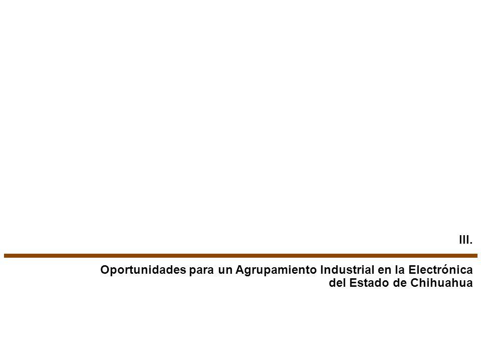 III. Oportunidades para un Agrupamiento Industrial en la Electrónica del Estado de Chihuahua