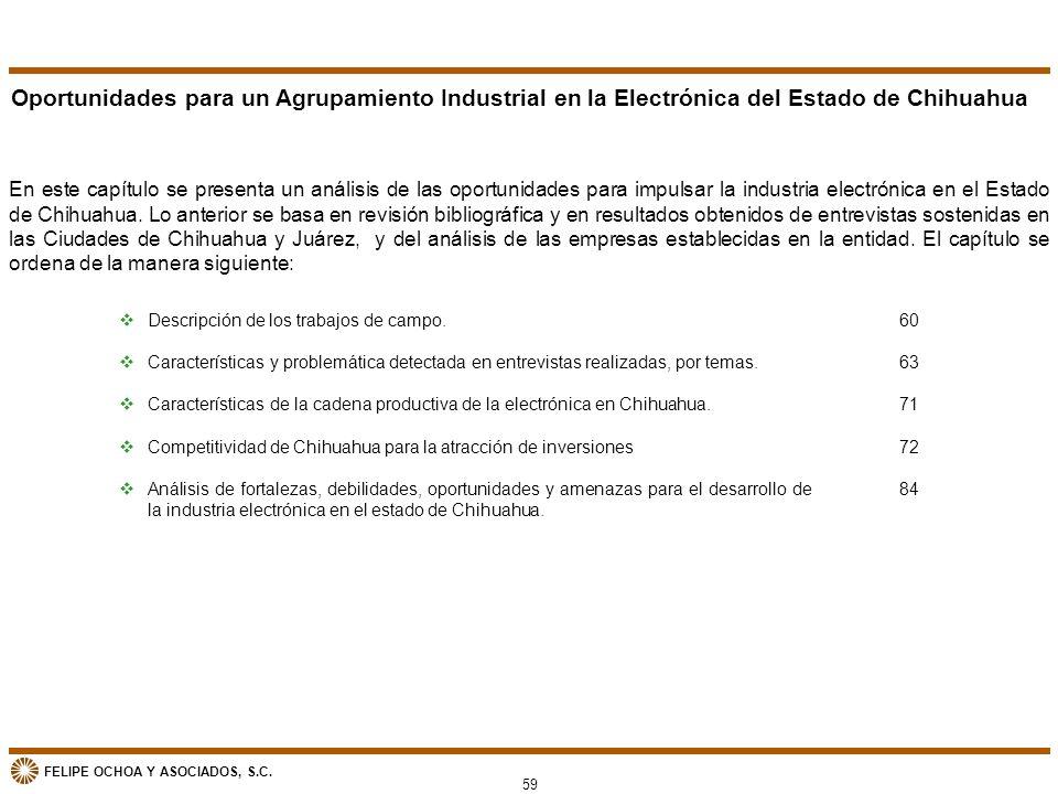 Oportunidades para un Agrupamiento Industrial en la Electrónica del Estado de Chihuahua