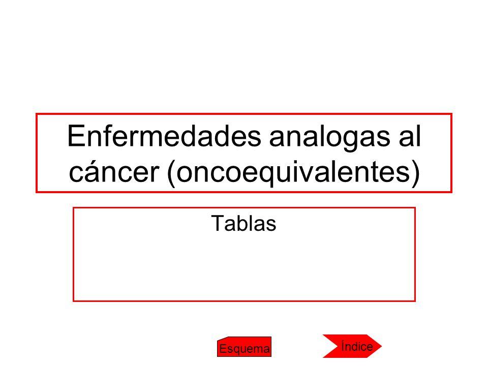 Enfermedades analogas al cáncer (oncoequivalentes)