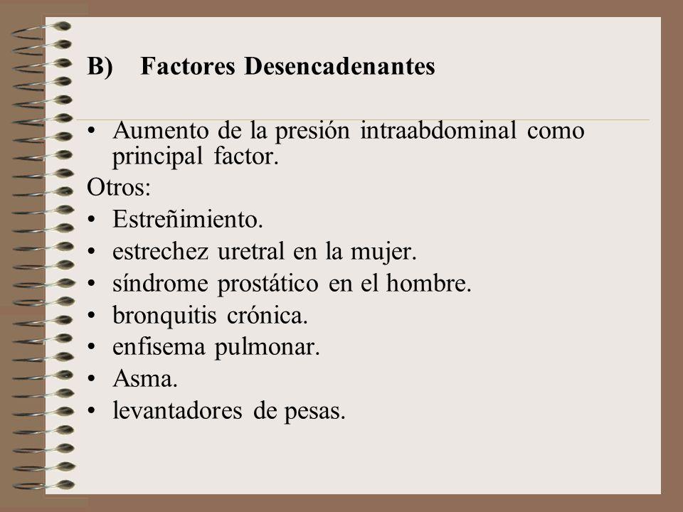 B) Factores Desencadenantes