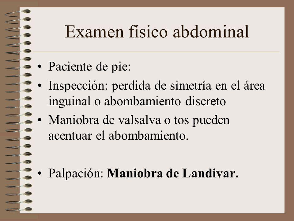 Examen físico abdominal