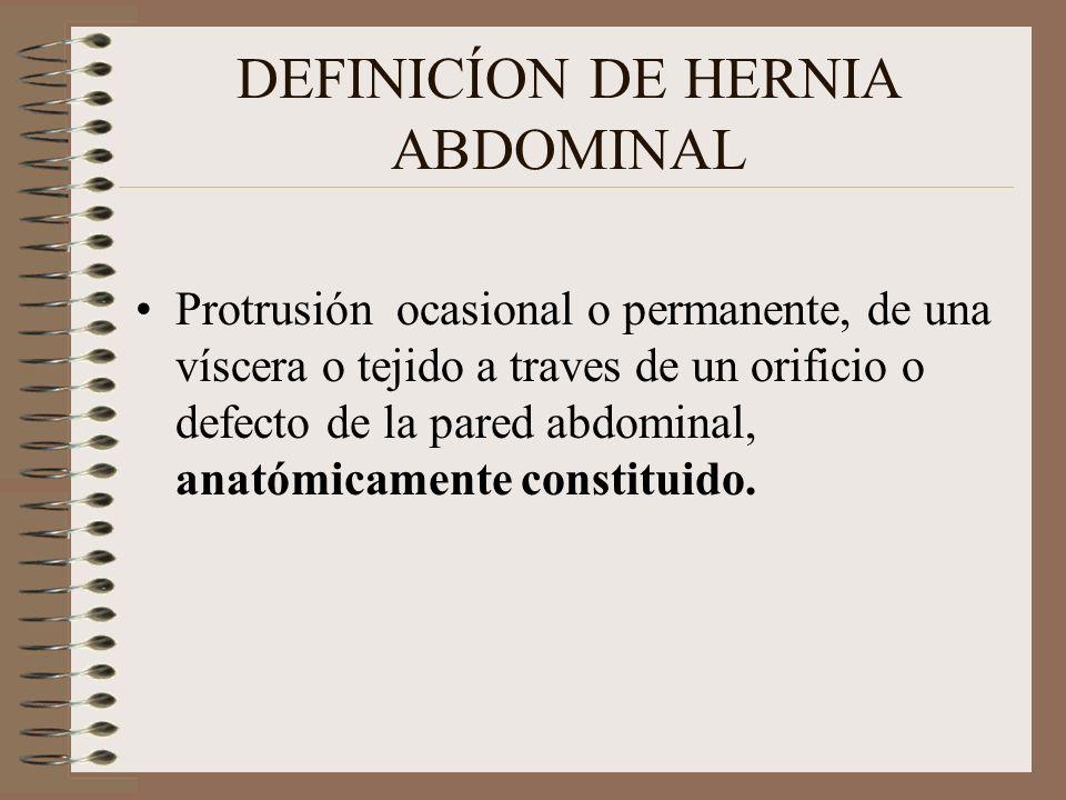 DEFINICÍON DE HERNIA ABDOMINAL