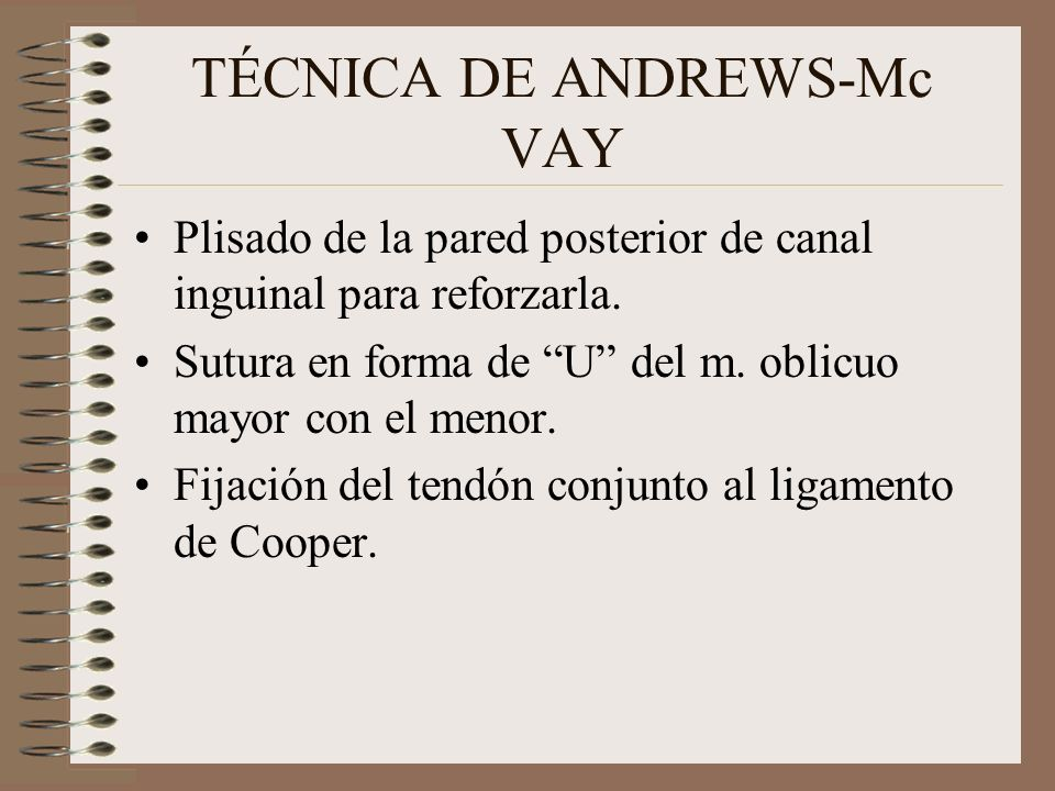 TÉCNICA DE ANDREWS-Mc VAY