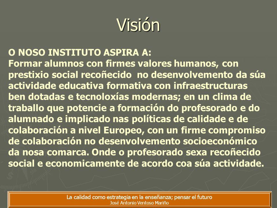 Visión O NOSO INSTITUTO ASPIRA A: