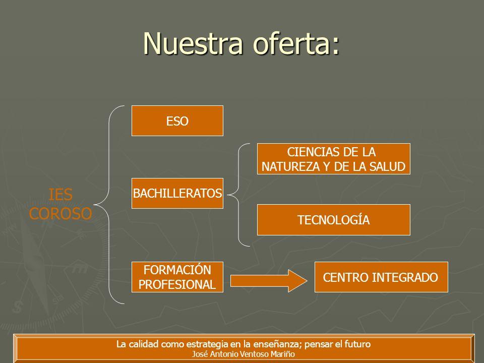 Nuestra oferta: IES COROSO ESO CIENCIAS DE LA NATUREZA Y DE LA SALUD