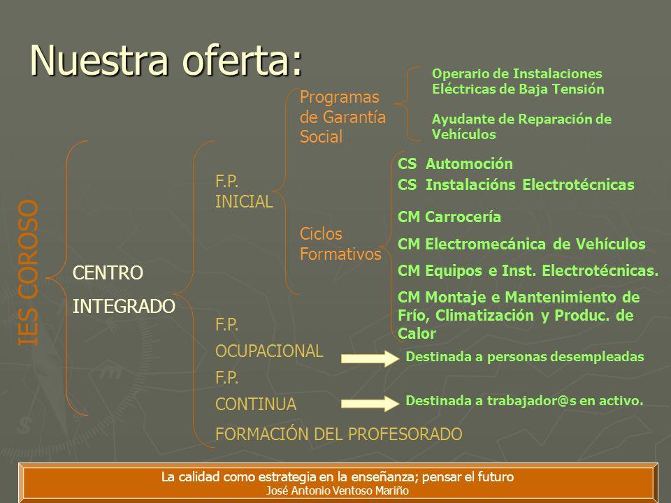 Nuestra oferta: IES COROSO CENTRO INTEGRADO