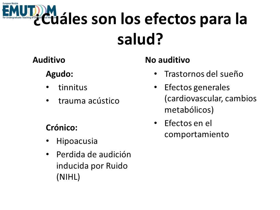 ¿Cuáles son los efectos para la salud