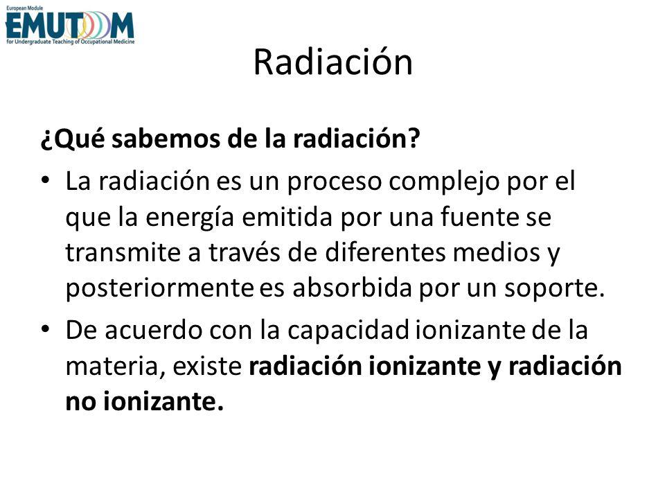 Radiación ¿Qué sabemos de la radiación