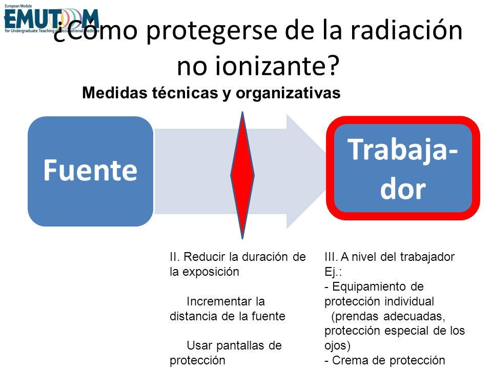 ¿Cómo protegerse de la radiación no ionizante
