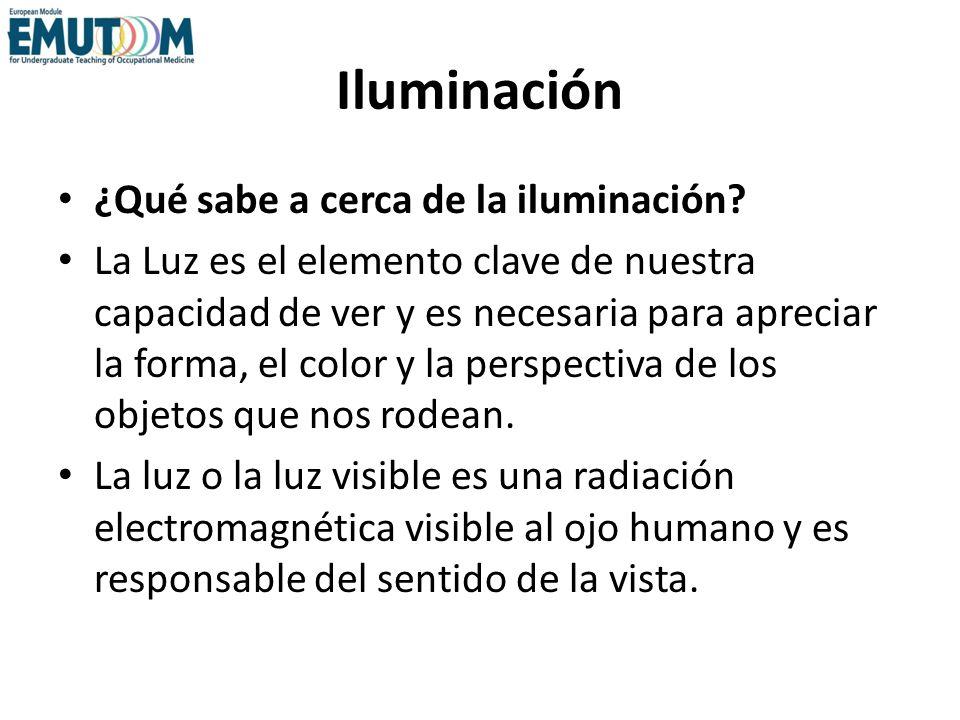Iluminación ¿Qué sabe a cerca de la iluminación