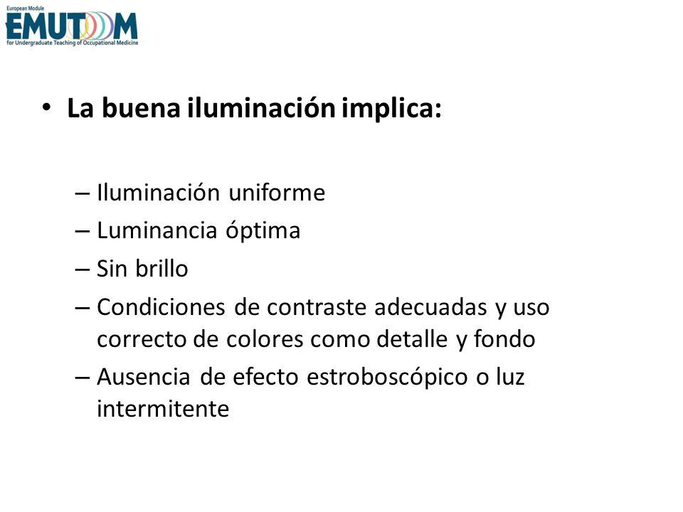 La buena iluminación implica: