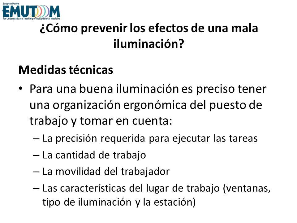 ¿Cómo prevenir los efectos de una mala iluminación