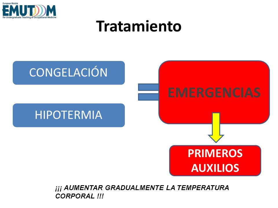 Tratamiento EMERGENCIAS CONGELACIÓN HIPOTERMIA PRIMEROS AUXILIOS