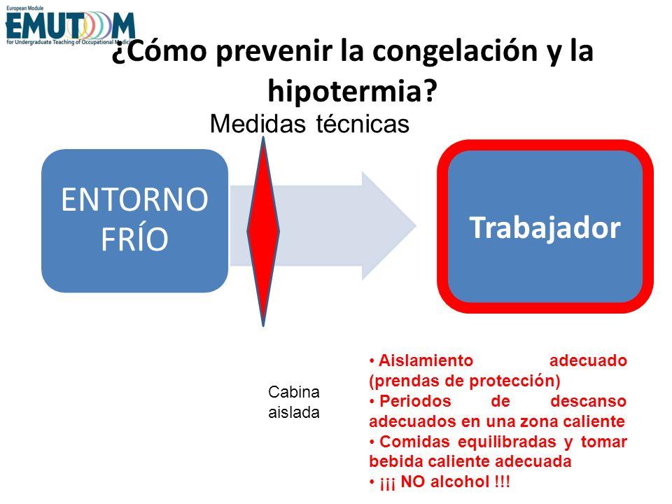 ¿Cómo prevenir la congelación y la hipotermia