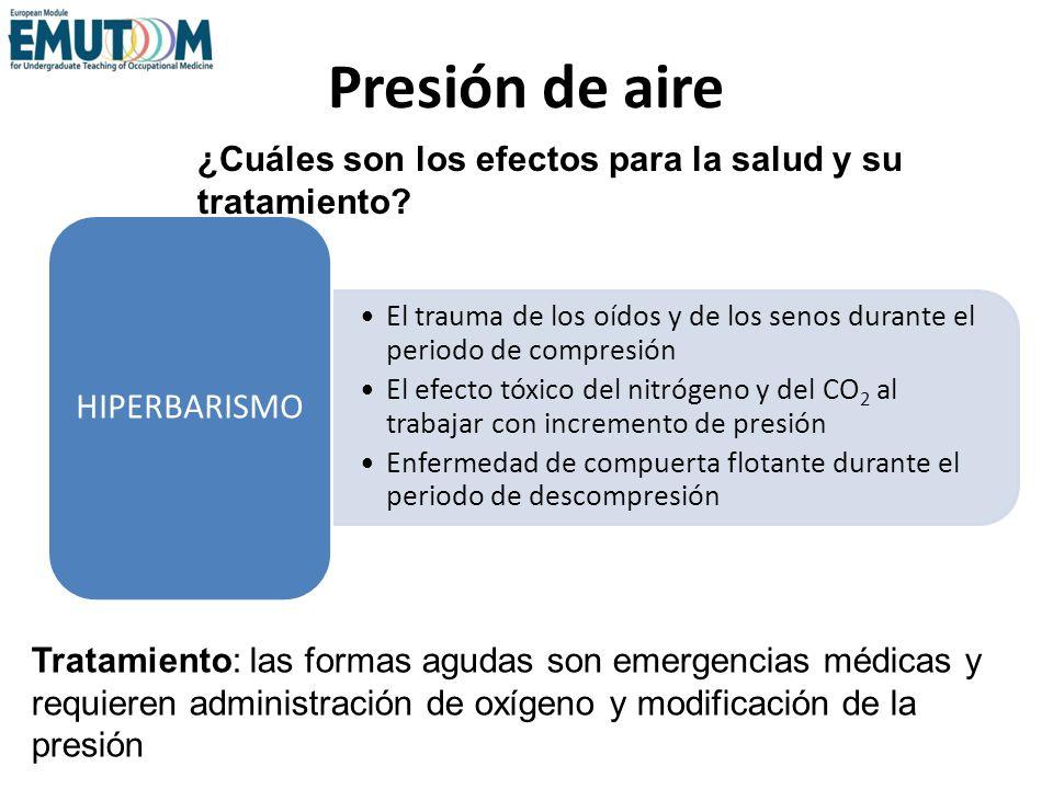 Presión de aire HIPERBARISMO