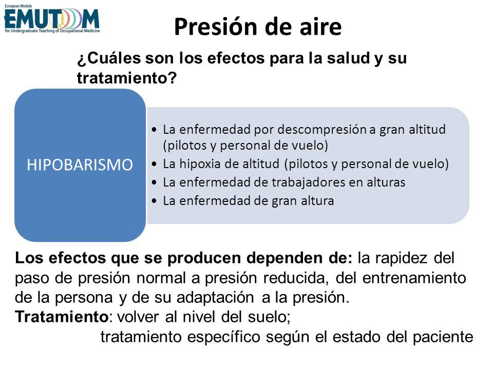 Presión de aire HIPOBARISMO
