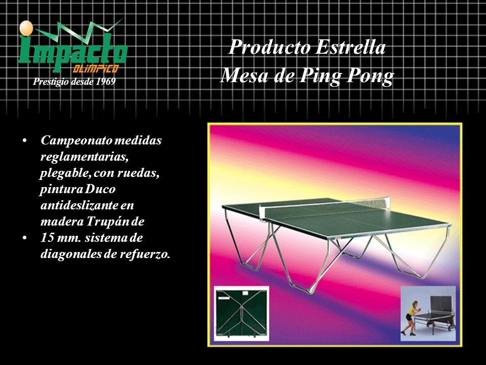 Producto Estrella Mesa de Ping Pong