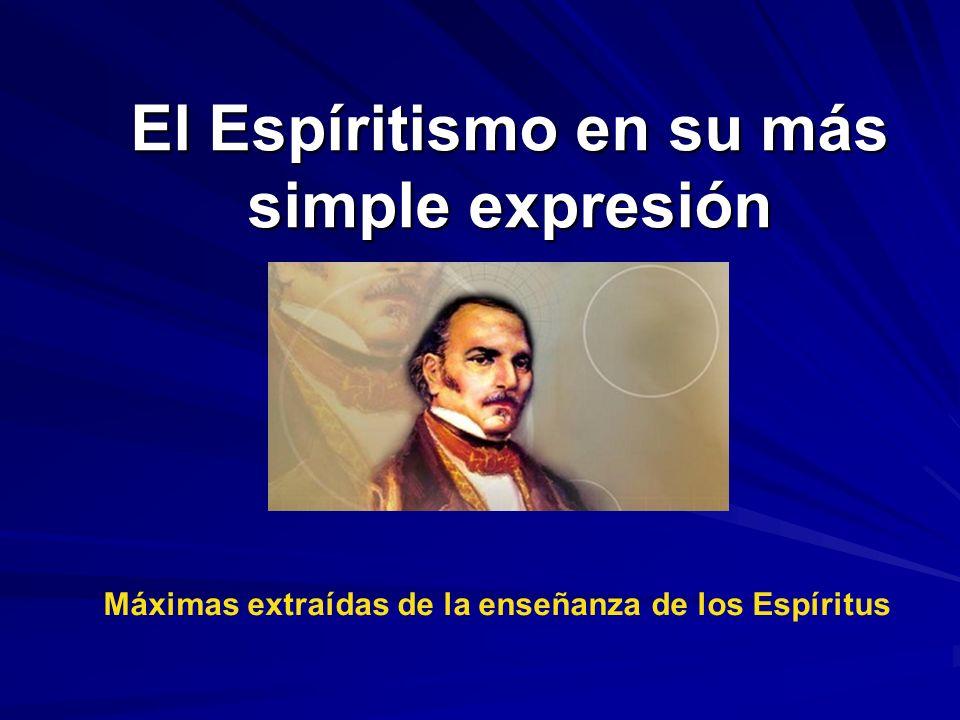 El Espíritismo en su más simple expresión
