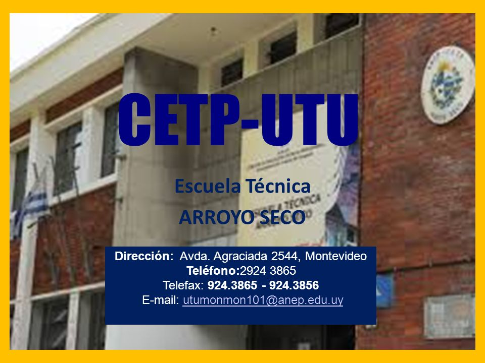 CETP-UTU Escuela Técnica ARROYO SECO