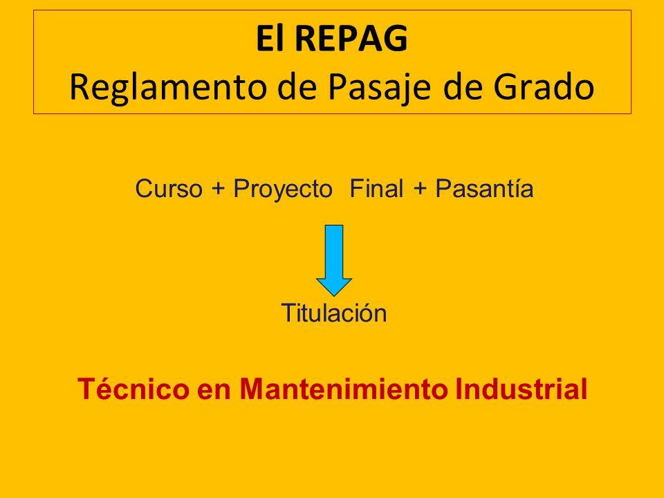 El REPAG Reglamento de Pasaje de Grado
