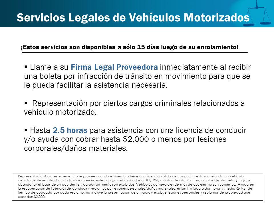 Servicios Legales de Vehículos Motorizados