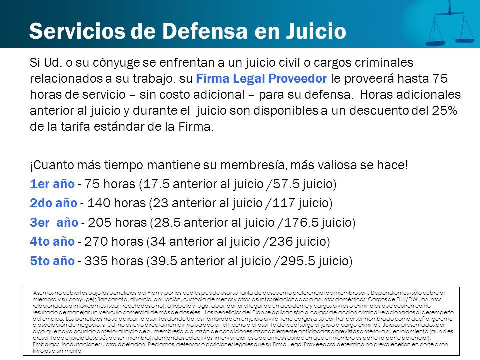 Servicios de Defensa en Juicio