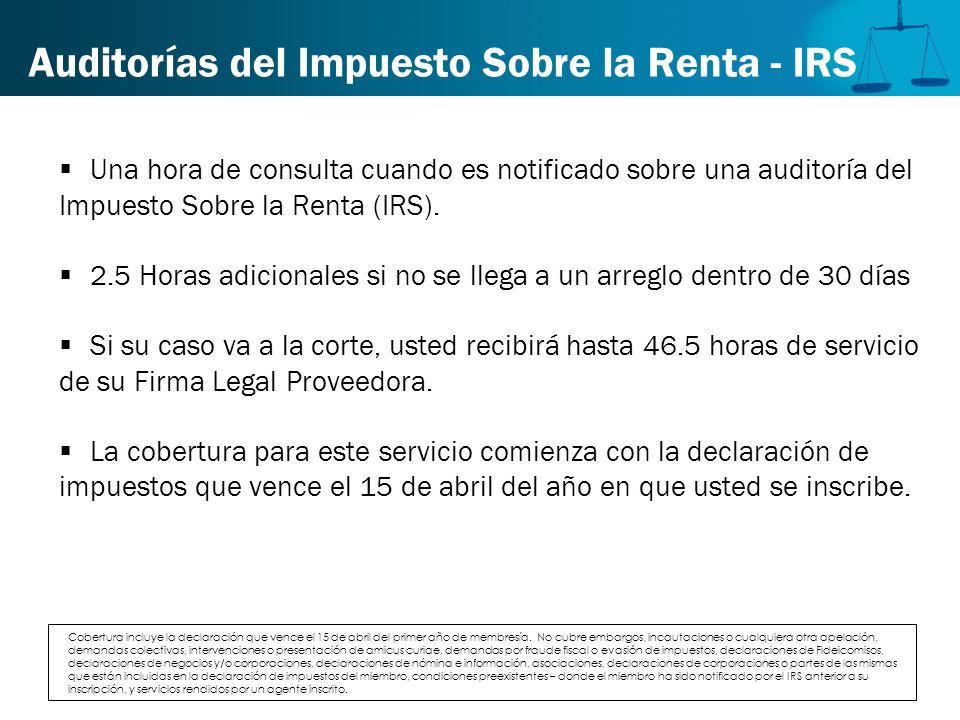 Auditorías del Impuesto Sobre la Renta - IRS